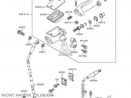 Kawasaki KDX200-E5 1993 USA CANADA parts lists and schematics