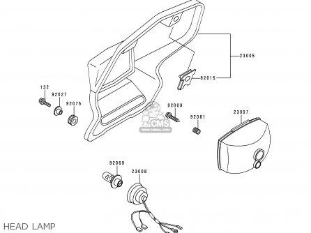 Kawasaki KDX200-E6 1994 USA CANADA parts lists and schematics
