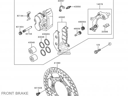 Kawasaki Kdx200-h1 1995 Usa Canada parts list partsmanual