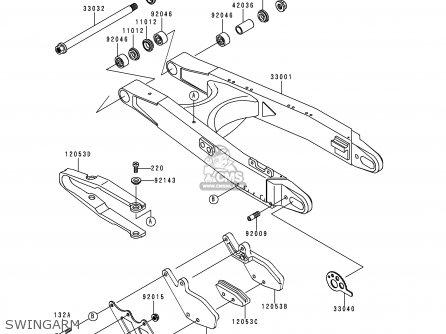 Kawasaki KDX200-H2 1996 EUROPE UK FR parts lists and