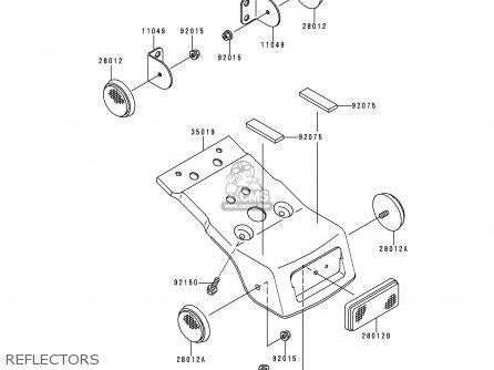 Kawasaki KDX200-H2 1996 USA CANADA parts lists and schematics