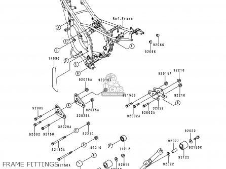 Kawasaki KDX200-H4 1998 USA CANADA parts lists and schematics