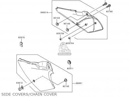 Kawasaki KDX200-H5 1999 EUROPE parts lists and schematics
