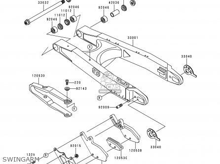 Kawasaki KDX200-H6 2000 USA parts lists and schematics