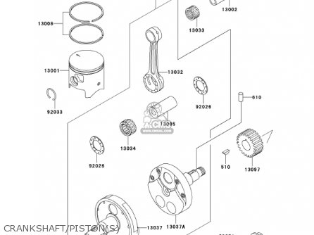 Kawasaki Kdx200-h7 Kdx200 2001 parts list partsmanual