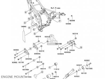 Kawasaki Kdx200-h7 Kdx200 2001 parts list partsmanual