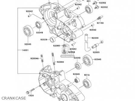 Kawasaki Kdx200-h8 Kdx200 2002 parts list partsmanual