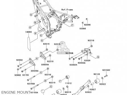 Kawasaki Kdx220-a9 Kdx220r 2002 Usa Canada parts list