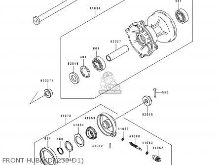 Kawasaki KDX250-D1 1991 USA CANADA parts lists and schematics