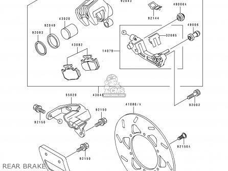 Kawasaki KDX250-D4 1994 AL parts lists and schematics