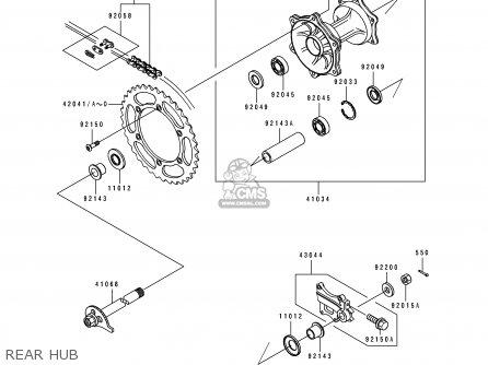 Kawasaki KDX250-D6 1995 FRANCE parts lists and schematics