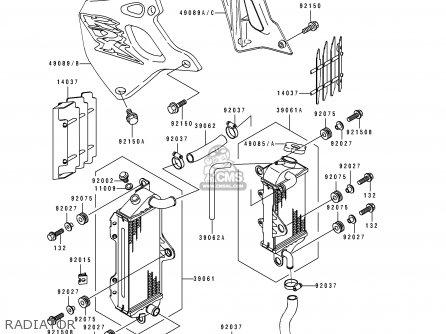 Kawasaki KDX250-E2 1992 EUROPE FR GR AS parts lists and