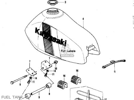 Kawasaki KDX420-B1 KDX420 1981 UNITED KINGDOM USA