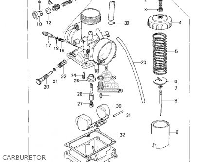 Kawasaki Kdx80-a1 Kdx80 1980 Austria parts list