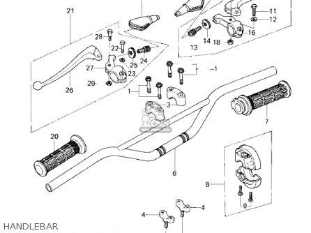 Kawasaki KDX80-A1 KDX80 1980 AUSTRIA parts lists and