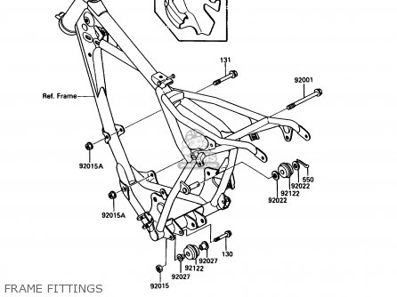 Kawasaki KDX80-C4 1987 USA CANADA parts lists and schematics