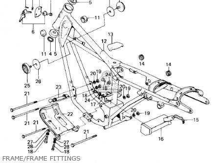 Kawasaki KE100-A10 KE100 1981 CANADA parts lists and