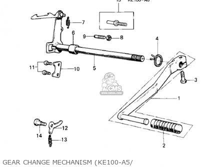 Kawasaki Ke100-a10 Ke100 1981 Canada parts list