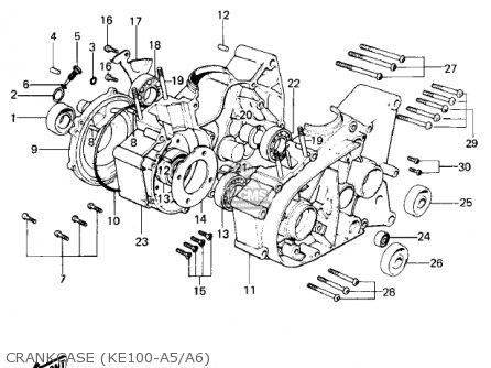 Kawasaki Ke100-a7 Ke100 1978 Canada parts list partsmanual