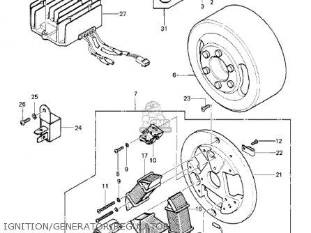 Kawasaki KE100-A7 KE100 1978 CANADA parts lists and schematics