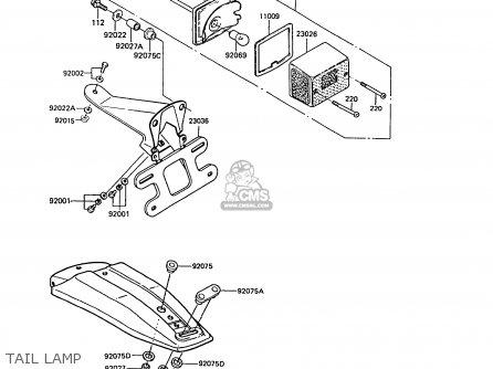 Kawasaki KE100-B10 1991 UNITED KINGDOM parts lists and