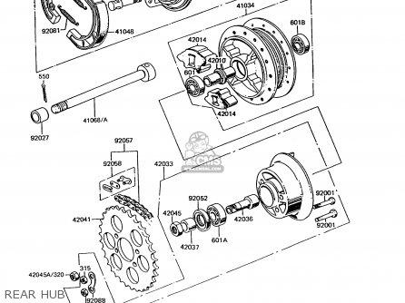 Kawasaki KE100-B11 1992 USA CANADA parts lists and schematics