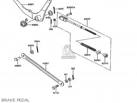 Kawasaki Ke100-b12 1993 Usa Canada parts list partsmanual
