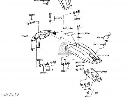 Kawasaki KE100-B12 1993 USA CANADA parts lists and schematics