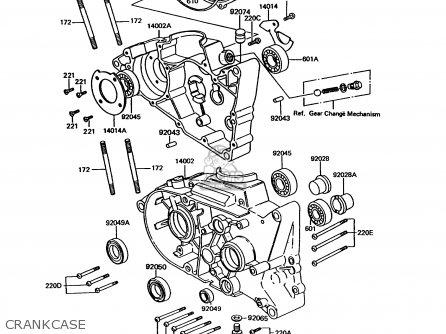 Kawasaki KE100-B13 1994 USA CANADA parts lists and schematics