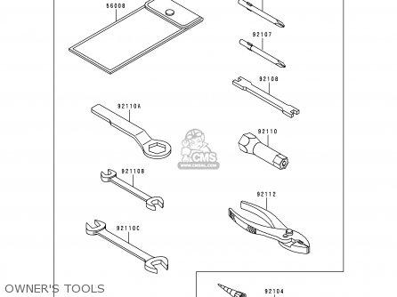 Kawasaki Ke100-b17 1998 Usa parts list partsmanual partsfiche