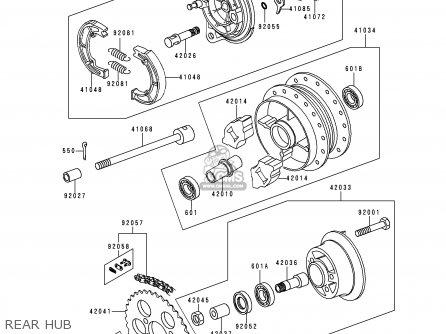 Kawasaki KE100-B17 1998 USA parts lists and schematics