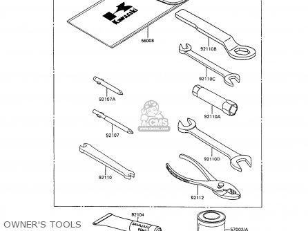 Kawasaki Ke100-b7 1988 United Kingdom parts list