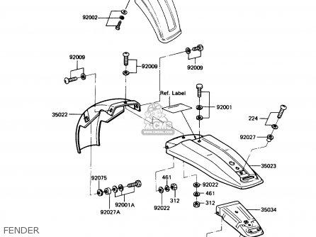 Kawasaki Ke100-b7 1988 Usa parts list partsmanual partsfiche