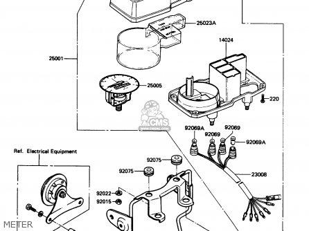 Kawasaki KE100-B7 1988 USA parts lists and schematics