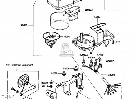 Kawasaki KE100-B9 1990 USA parts lists and schematics