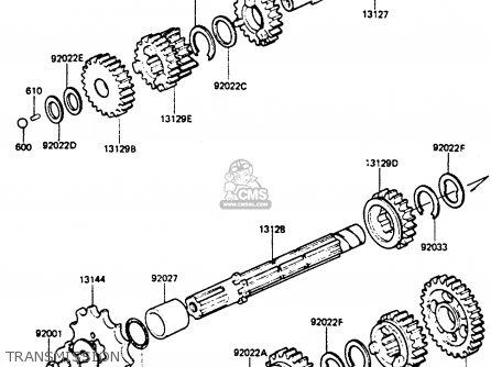 Kawasaki KE100B1 1982 UNITED KINGDOM parts lists and
