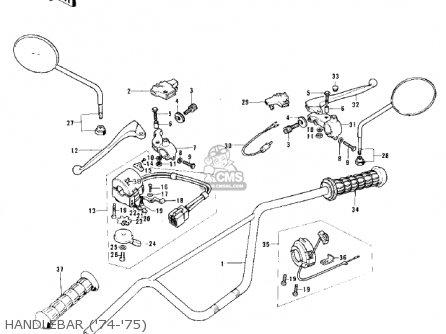 Kawasaki Ke125-a3 Ke125 1976 Usa Canada parts list
