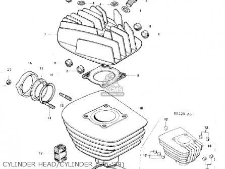 Kawasaki KE125-A4 KE125 1977 USA CANADA parts lists and