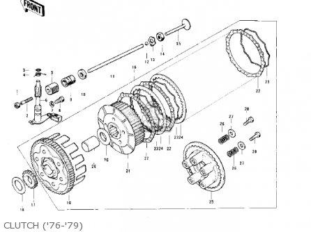 Kawasaki KE125-A6 KE125 1979 USA CANADA parts lists and