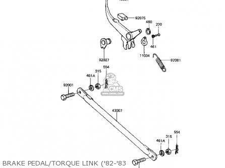 Kawasaki KE125-A7 KE125 1980 USA CANADA parts lists and