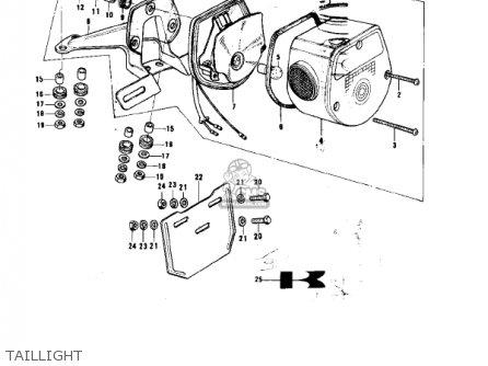 Kawasaki Ke175-b1 Ke175 1976 Usa Canada / Mph Kph parts