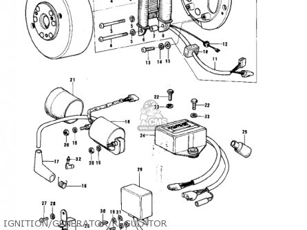 Kawasaki KE175-B2 KE175 1977 USA CANADA / MPH KPH parts