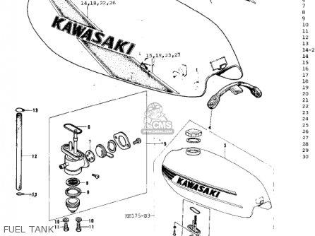 Kawasaki KE175-B3 KE175 1978 USA CANADA / MPH KPH parts