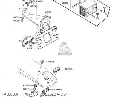 Kawasaki Ke175-d3 Ke175 1981 Usa Canada parts list