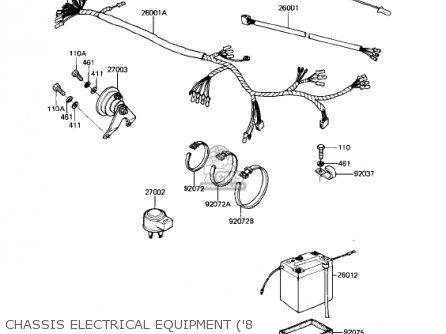 Kawasaki Ke175-d5 Ke175 1983 Usa Canada parts list