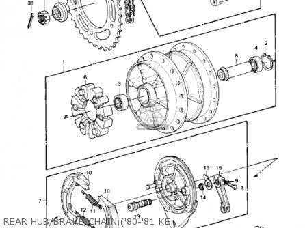 Kawasaki KE175-D5 KE175 1983 USA CANADA parts lists and