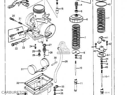 Kawasaki Ke250-b1 1977 / Mph Kph parts list partsmanual