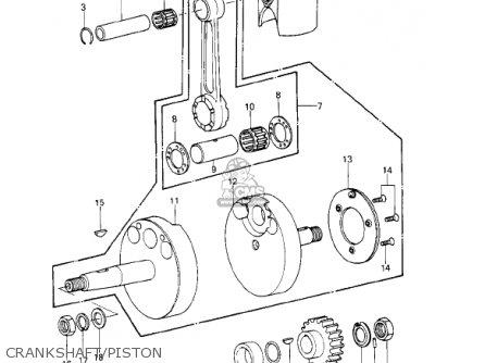 Kawasaki KE250-B2 1978 / MPH KPH parts lists and schematics