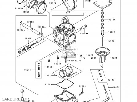 Kawasaki Kef300-a4 Lakota300 1998 Europe parts list
