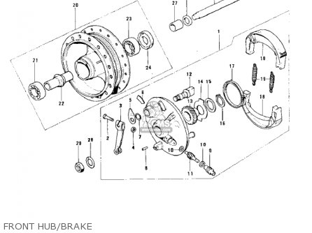 Kawasaki Kh100b7 1976 Canada parts list partsmanual partsfiche